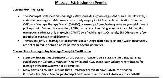 San Diego Police Announcement re: Massage Establishments |  Project by Sheri Rosalia | Data Engineer | Data Analyst | Data Scientist