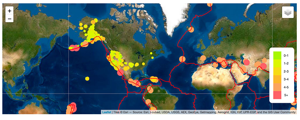 Click to see geomap visualization 7 days of earthquakes    | Project by Sheri Rosalia | Data Engineer | Data Analyst | Data Scientist